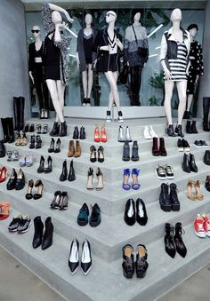 Stairway to shoe heaven at the Nasty Gal store opening // photo via John Sciulli