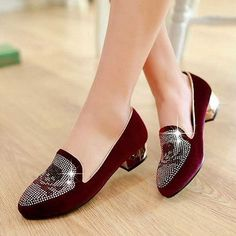 Heels: approx 3 cm Platform: approx - cm Color: Black, Blue, Purple Size: US 3, 4, 5, 6, 7, 8, 9, 10, 11, 12 (All Measurement In Cm And Please Note 1cm=0.39inch) Note:Use Size Us 5 As Measurement Standard, Error:0.5cm.(When Plus/Minus A Size,The Round And Shaft Height Will Plus/Minus 0.5CM Accordingly.Error:0.5cm) Note: The size you choose is US Size and 1CM=0.39inch. Size Guide: US 3=EU34=22CM,US 4=EU35=22.5CM,US 5=EU36=23CM, US 6=EU37=23.5CM,US 7=EU38=24CM,US 8=EU39=24.5CM, US 9=EU40=25CM,US 1 Low Heel Shoes, Low Heels, Shoes Heels, Pumps, Mode Shoes, Beautiful Heels, Dream Shoes, Custom Shoes, Fashion Shoes