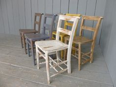 Used Chairs For Sale Desk Chair Officeworks 382 Best Antiques Vintage Images Antique Phone Old Set Of 6 Painted Stickback Kitchen Seats Wooden Chapel School Elm Church Furnishings