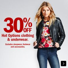 30% OFF  Hot Options clothing and underwear.