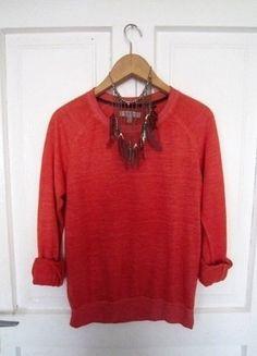 Kup mój przedmiot na #vintedpl http://www.vinted.pl/damska-odziez/bluzy/15724837-cienka-pomaranczowa-bluza-m-38