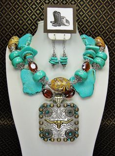 Turquoise Statement Southwestern Cowgirl by CayaCowgirlCreations, $58.50