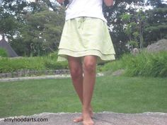 Double layer A-line drawstring skirt tute