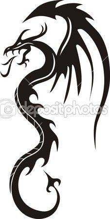 Ejderha vektör çizim Taş boyama  — Stok İllüstrasyon #38320703