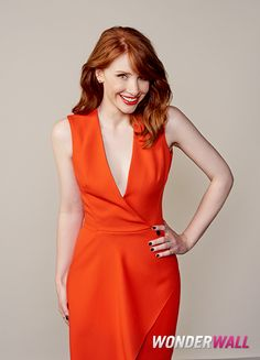 """Bryce Dallas Howard poses at the """"Jurassic World"""" junket in Los Angeles."""