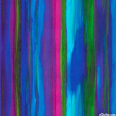 eQuilter Flying Sweetly - Northern Lights - Sapphire - DIGITALLY PRINTED