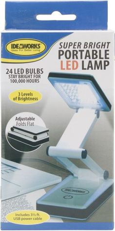 Super Bright Portable LED Lamp-White (1793759)
