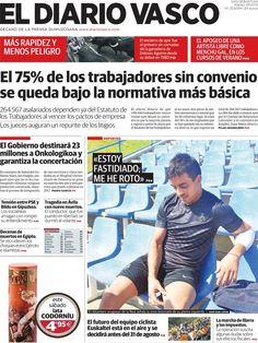 Los Titulares y Portadas de Noticias Destacadas Españolas del 9 de Julio de 2013 del Diario Vasco ¿Que le parecio esta Portada de este Diario Español?