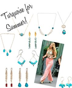 """""""Turquoise Jewelry for Summer"""" by peggyli ❤ liked on Polyvore"""