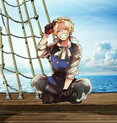 Sabo, smiling, cute; One Piece