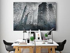 14001 Obraz na płótnie - Wrocławski Manhattan ART