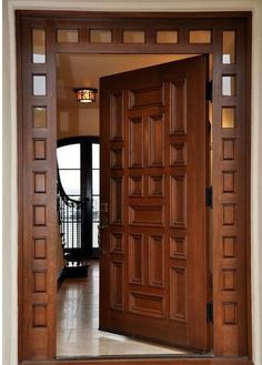 Are you looking for best wooden doors for your home that suits perfectly? Then come and see our new content Wooden Main Door Design Ideas. Main Entrance Door Design, Wooden Front Door Design, Room Door Design, Wooden Front Doors, Door Design Interior, The Doors, House Front Design, Entry Doors, Panel Doors