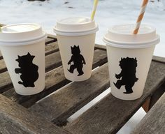 WhEre The WILD things are Chalkboard Labels for hot cocoa bar or mason jars baby shower birthday party decorations decor favor