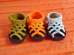 crochet baby sandalscrochet baby  shoesbaby girl by MrsWalshshop, $8.90