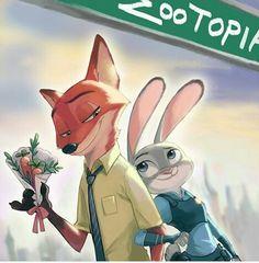 Imagem de zootopia, disney, and love
