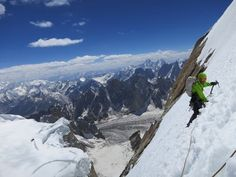Hayden Kennedy descends Ogre I after making the third ascent of the mountain with Kyle Dempster. Karakorum Range, Pakistan. Photo: Kyle Dempster.