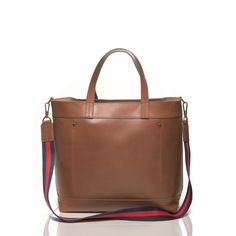 Beautiful brown leather satchel.
