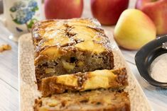 Apple Spice Cake and Loaf Recipe: Fall Baking Apple Loaf Cake, Apple Pie Bread, Apple Spice Cake, Greek Desserts, Fall Desserts, Greek Recipes, Loaf Recipes, Baking Recipes, Greek Spices