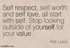 Value YOURSELF!