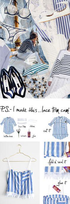 P.S.- I made this...Lace Trim Cami #PSIMADETHIS #DIY