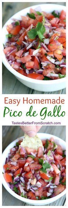 Authentic, homemade Pico de Gallo from TastesBetterFromScratch.com