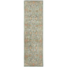 Safavieh Heritage Blue And Blue Rectangular Indoor Tufted Runner (Common: 2 X 14; Actual: 2.25-Ft W X 14-Ft L)