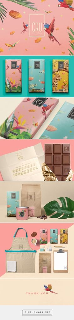 CRU Chocolate Branding and Packaging by Nicolas Rudy Web Design, Design Social, Pop Art Design, Icon Design, Corporate Design, Brand Identity Design, Graphic Design Branding, Label Design, Logo Design