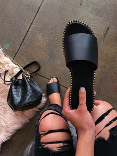 Shop Official Bee: The Latest Shoe Trends – shopofficialbee Sandals Outfit, Cute Sandals, Fashion Sandals, Shoes Sandals, Heels, Slipper Sandals, Strappy Sandals, Heeled Boots, Shoe Boots
