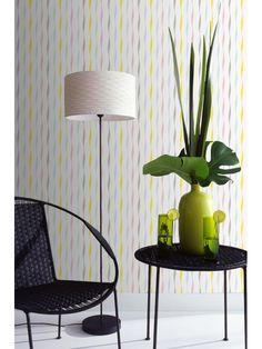 papier peint goutte fred bleu jaune scandinave graham. Black Bedroom Furniture Sets. Home Design Ideas