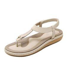 $19.99 BEIGE SOCOSANDS Women's Comfy Sandals, Comfort Slip On Summer's Sandals SOCOSANDS Cute Sandals, Flip Flop Sandals, Back Strap, T Strap, Clarks Sandals, Summer Vacation Outfits, Flat Gladiator Sandals, Blowfish Shoes, Womens Flip Flops