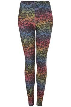 Rainbow Lace Printed Legging - StyleSays