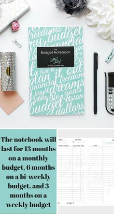 The Ashley Shelly Budget Notebook can make budgeting for your family fun instead if stressful and a hassle included are pages to write an all bills list or annual bills list a savings tracker #ad #budget #savings #financial #goals #notebook