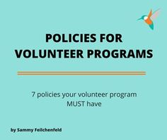 In your volunteer program, it is likely that you have a number of policies and procedures that ensure things run smoothly Volunteer Management, Volunteer Services, Volunteer Gifts, Volunteer Programs, Appreciation Message, Volunteer Appreciation, Non Profit Jobs, Fundraising, Leadership