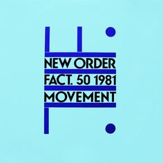 """CvA039. New Order - """"Movement"""" by Peter Saville / Factory Records 1981 / FACT50 / #Albumcover"""