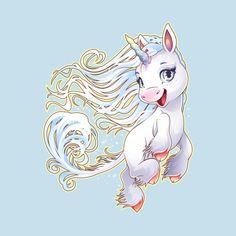 Wind Unicorn - Fantasy - T-Shirt Unicorn Fantasy, Unicorn Horse, Unicorn Art, Fantasy Art, Horse Drawings, Cartoon Drawings, Animal Drawings, Unicorn Drawing, Cartoon Unicorn