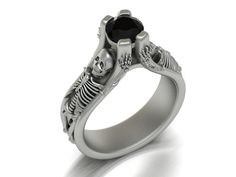 The Skeleton Ring  14k White Gold by ImagesJewelers on Etsy