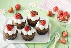 Cupcakes met lieveheersbeestjes