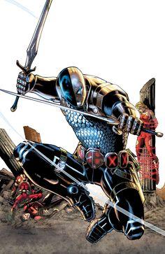 Teen Titans Vol 4 Deathstroke Deathstroke Comics, Deathstroke The Terminator, Deadshot, Deathstroke Cosplay, Superman, Al Ghul, Comic Villains, Comic Books Art, Comic Art