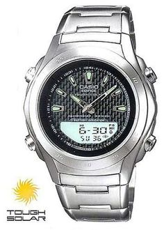 Casio Edifice Tough Solar Steel Black Chronograph Watch EFS12D1AV * More info could be found at the image url.