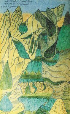 JosephYoakum was a self-taught landscape artist living in Chicago. Vision Art, Collage, Comic, Art Brut, Joseph, Naive Art, Outsider Art, Grafik Design, Teaching Art
