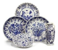 Chinese blue and white porcelain - Set