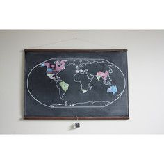 Scroll world map chalkboard genius what map lover hasnt scroll world map chalkboard genius what map lover hasnt secretly wanted to create their own names for places and then curl up their scroll gumiabroncs Gallery