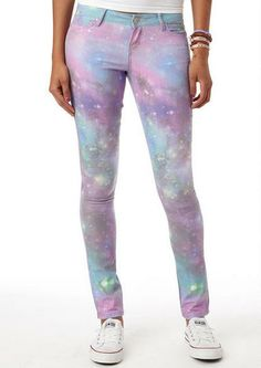 Purple Galaxy Jegging - View All Clearance - Clearance - dELiA*s
