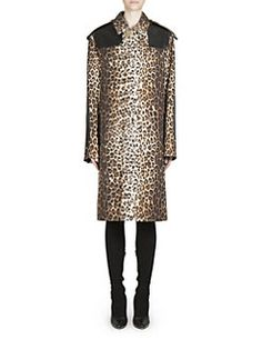 Givenchy - Leopard Printed Wool Coat