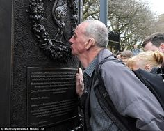 John Pugh, who lost a close friend in the Hillsborough disaster, at the new monument | 15 April 2013