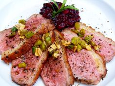 Pan Roasted Breast of Duck with Sun Dried Cranberry Demi Glace ...