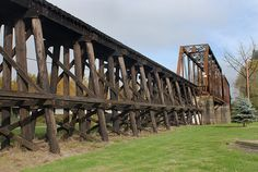 Railroad Trestle  Railroad Trestle & Bridge crossing the Santiam River at Lebanon Oregon.