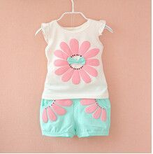 Clothing Sets Girl Sunflower