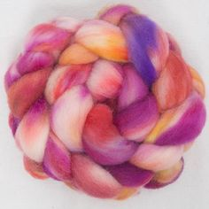 Passion, hand dyed Cheviot top
