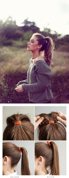 Prop Up Ponytail With Bobby Pins #Hair_Beauty